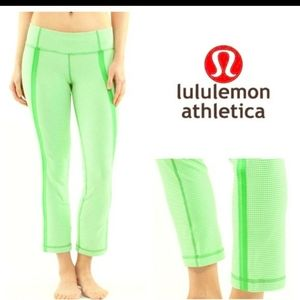 Lululemon Coast To Class Pant *Gingham  Frond / Wh